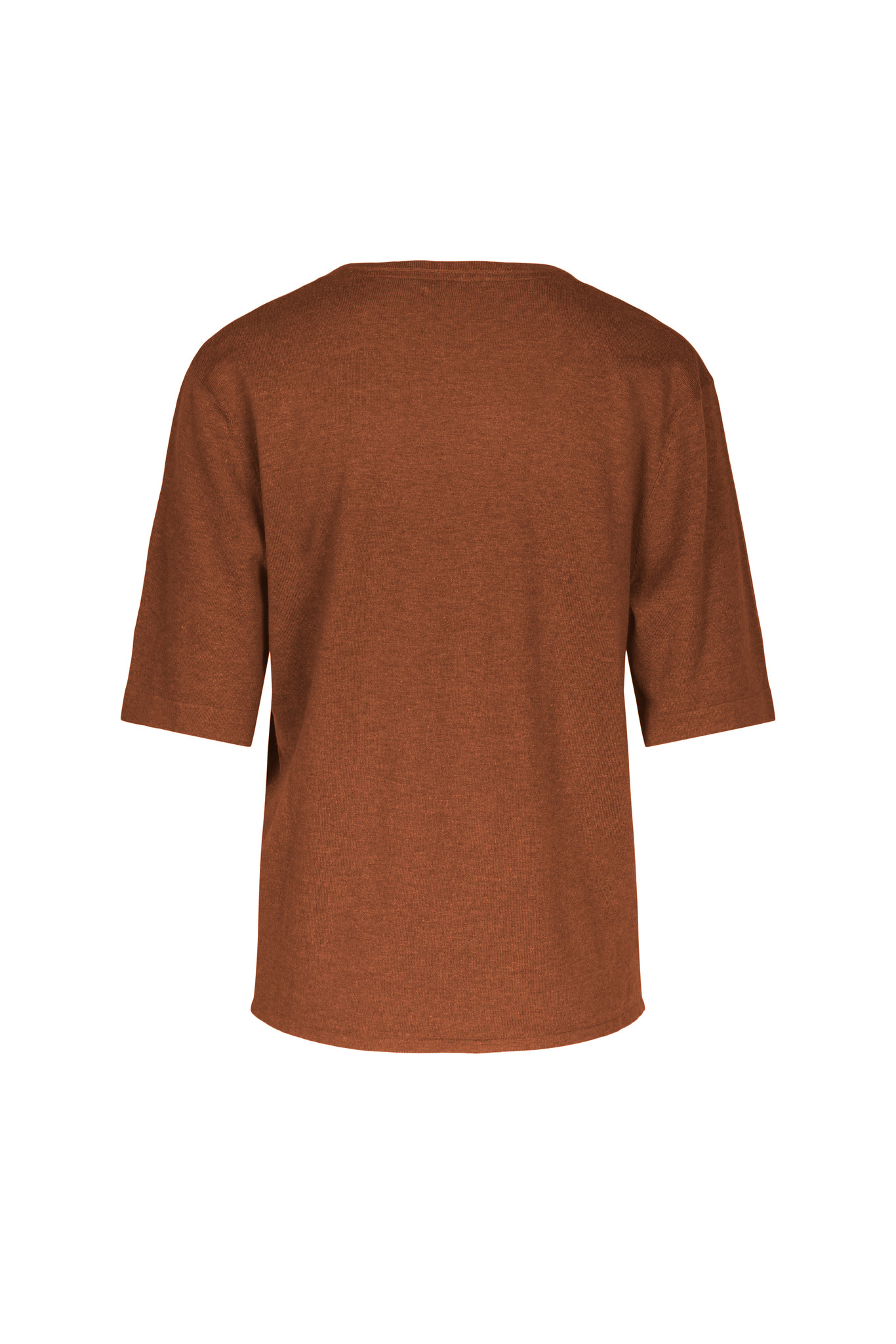 Joe Knitted Tee - Caramel Melange-2
