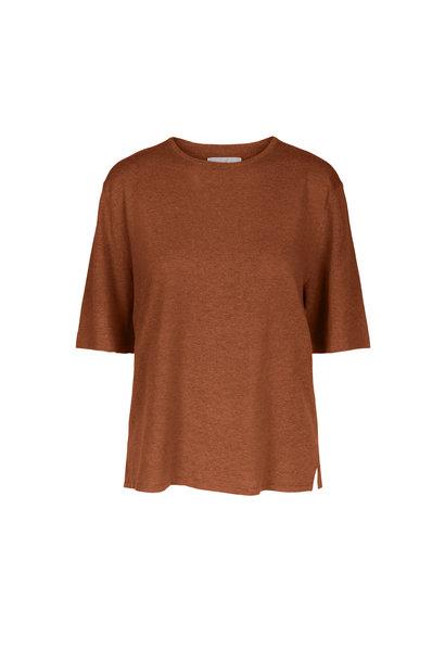 Joe Knitted Tee - Caramel Melange