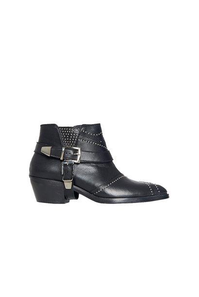 Bianca Boots - Zwart met Gunmetal Studs