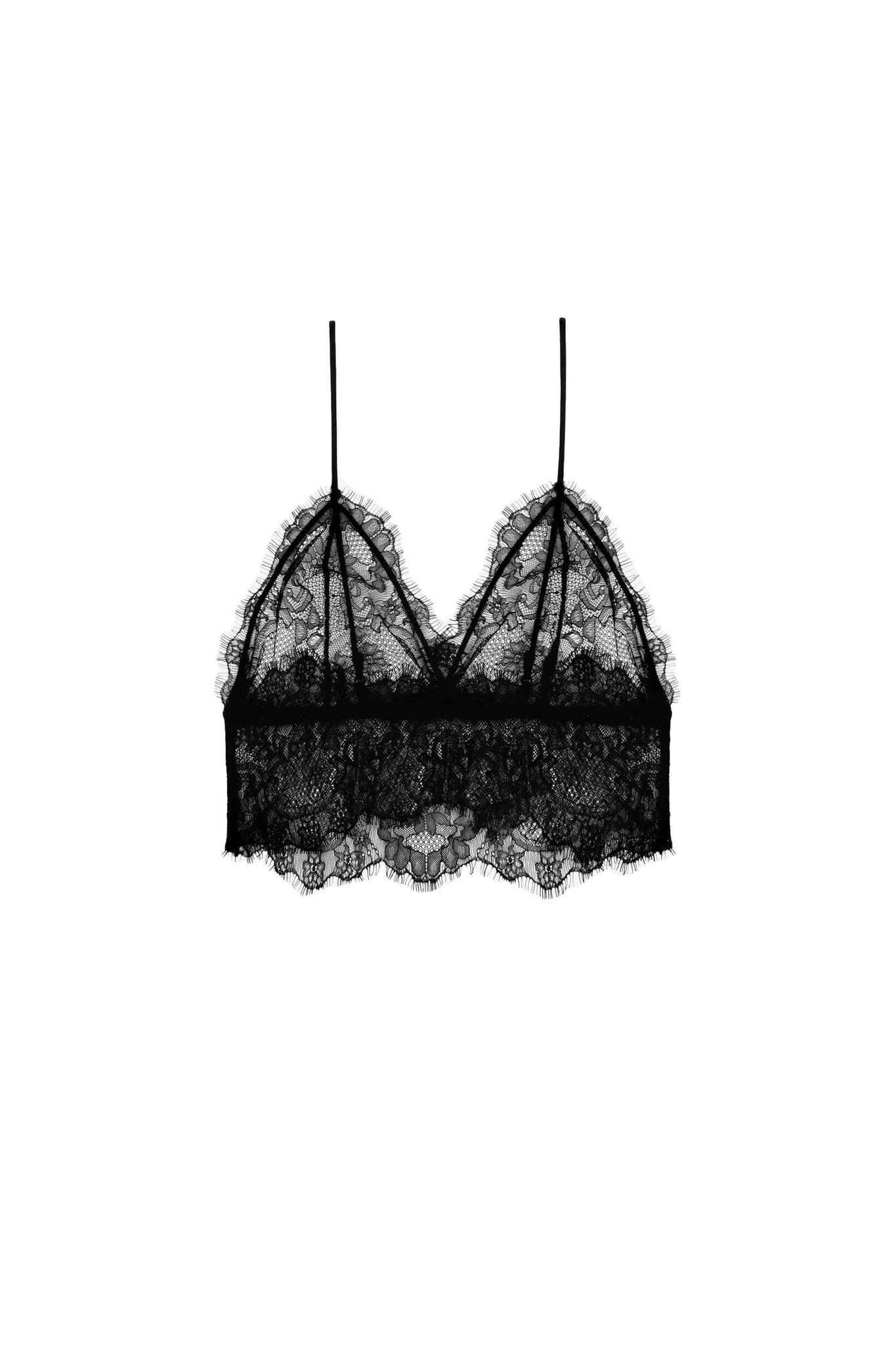 Lace Bralette - Black-1