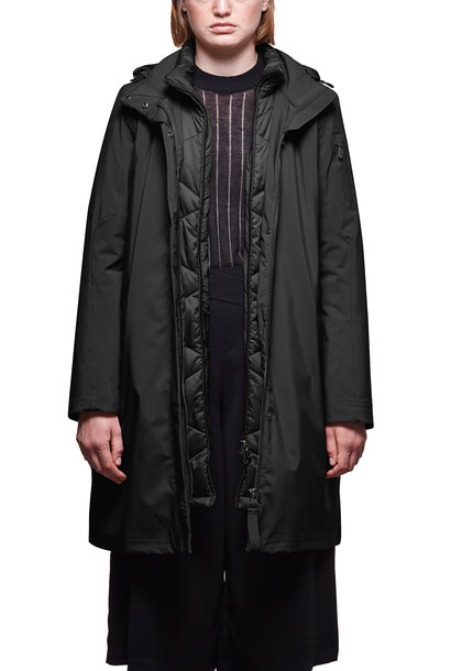 Sphere II Silk Touch Coat - Midnight