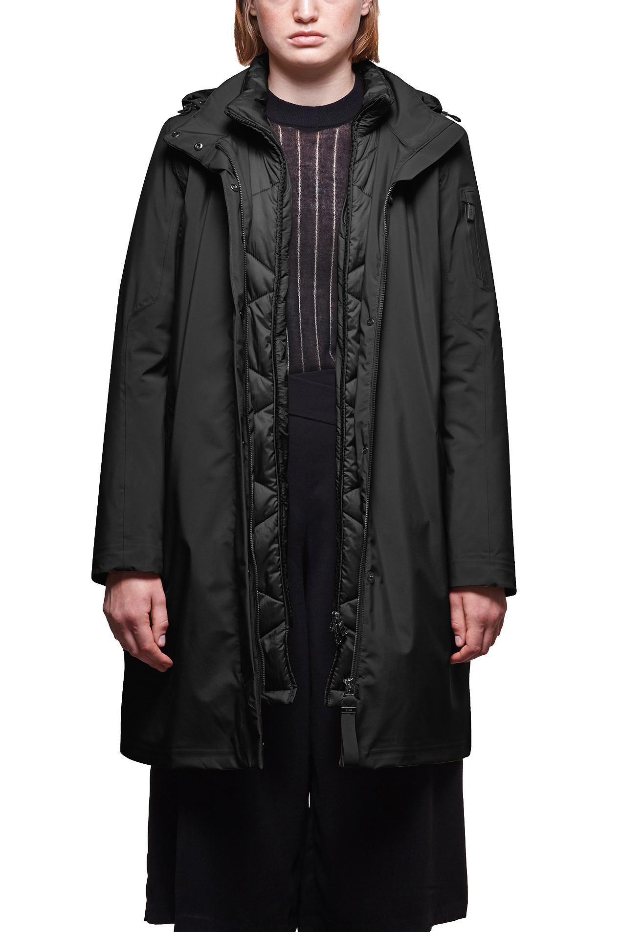 Sphere II Silk Touch Coat - Midnight-1