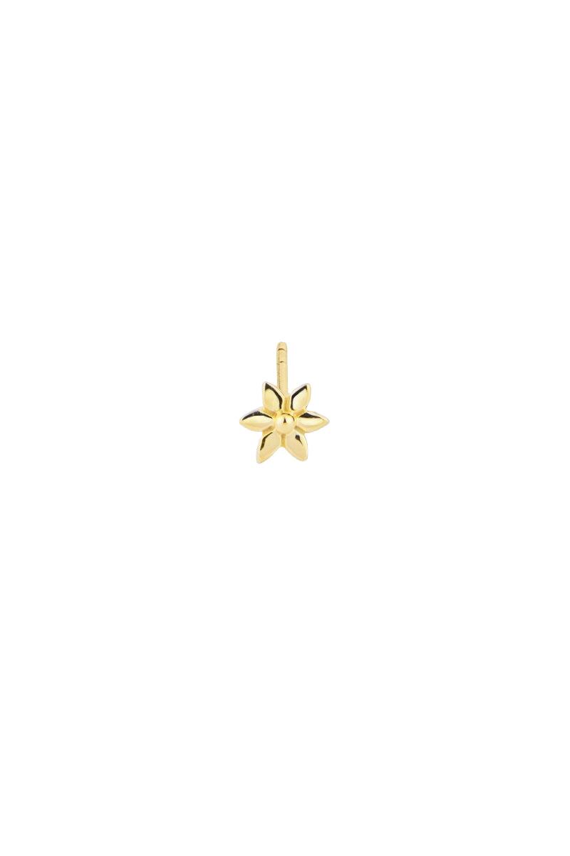Flower Stud Earring - Gold-1