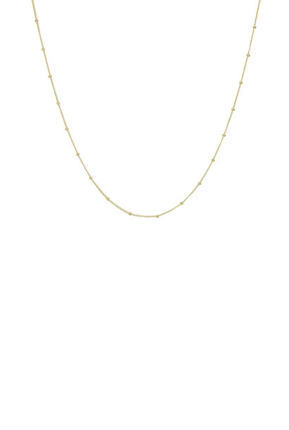 Stud Chain Necklace - Gold