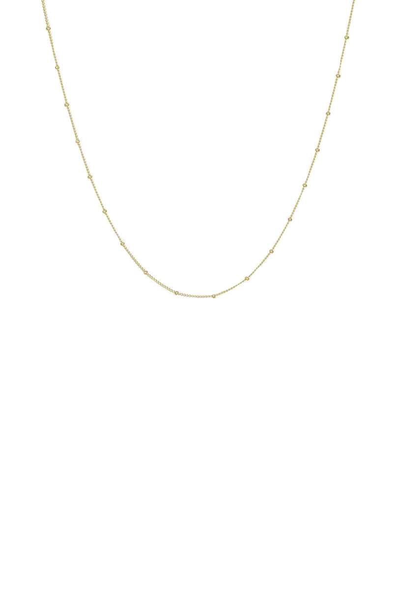 Stud Chain Necklace - Gold-1