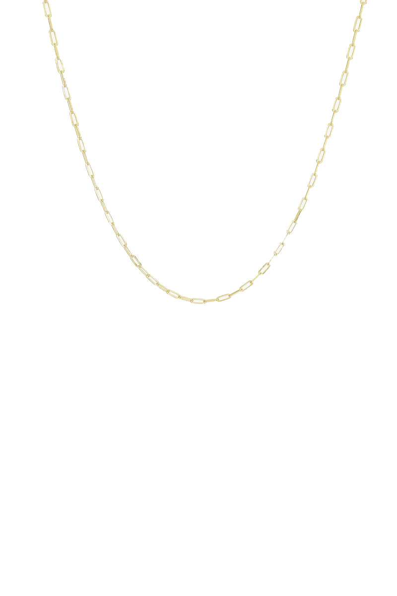 Tiny Chain Necklace - Gold-1