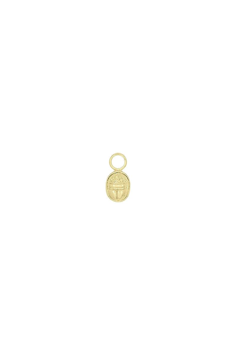 Scarab Earring Charm - Gold-1