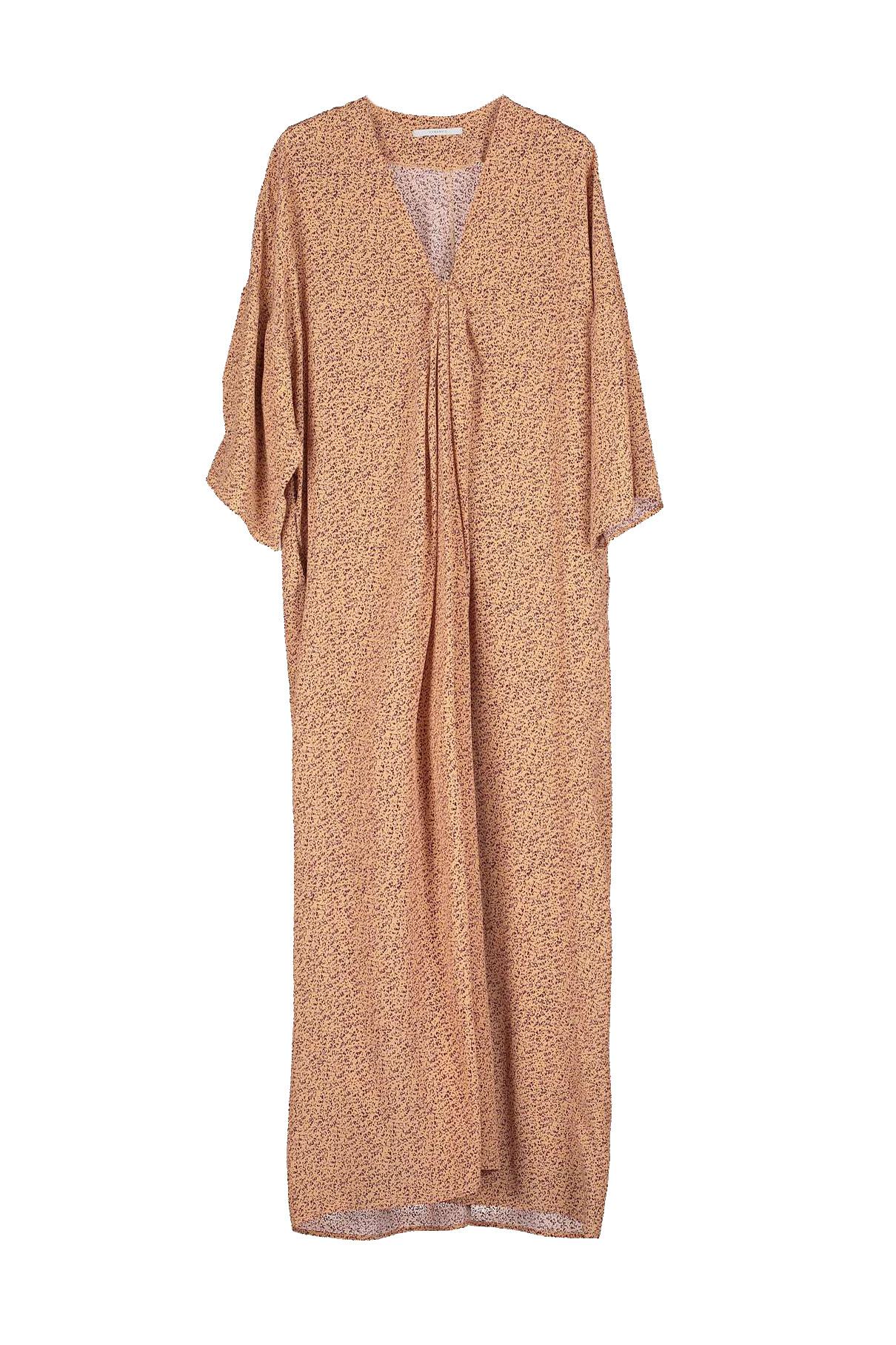 Bless Print Dress - Apricot-1