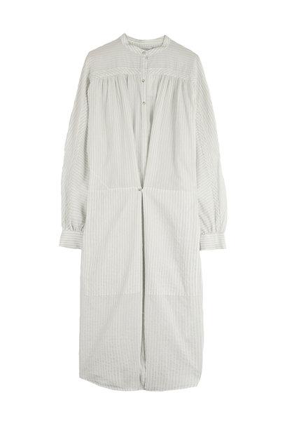 Nio Stripe Dress - Milk White
