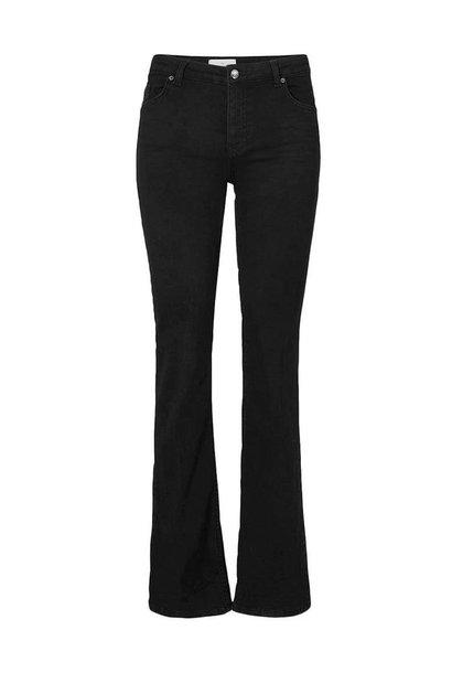 Naomi Flare Jeans - Black Auto