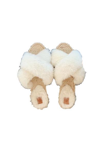 Lori Sheepskin Wool Slippers - Gebroken Wit
