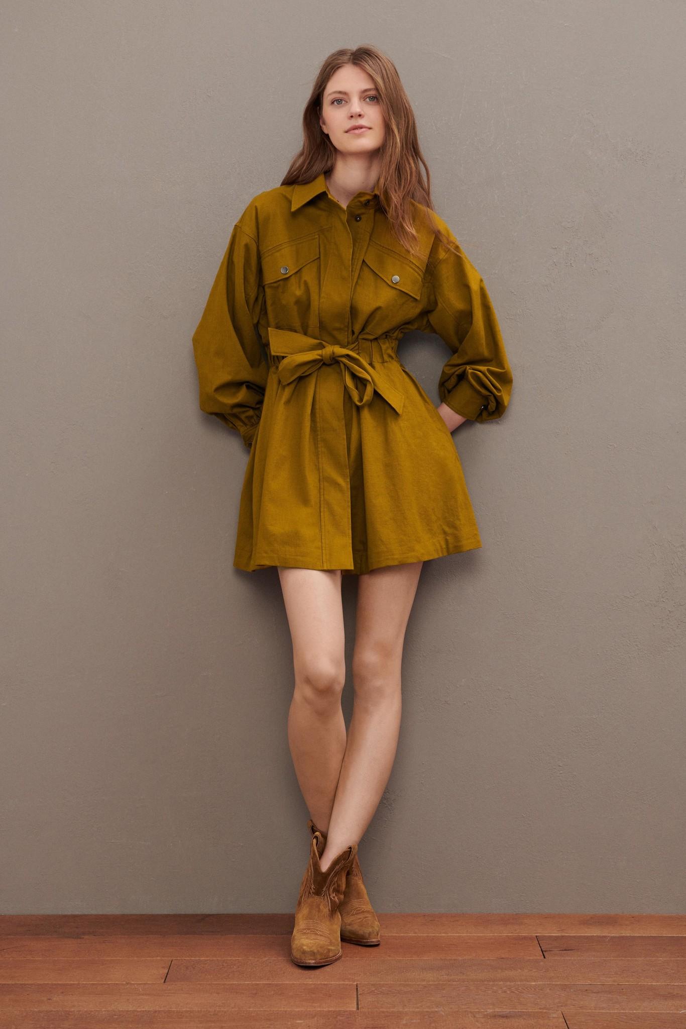 Oden Dress - Olive-2