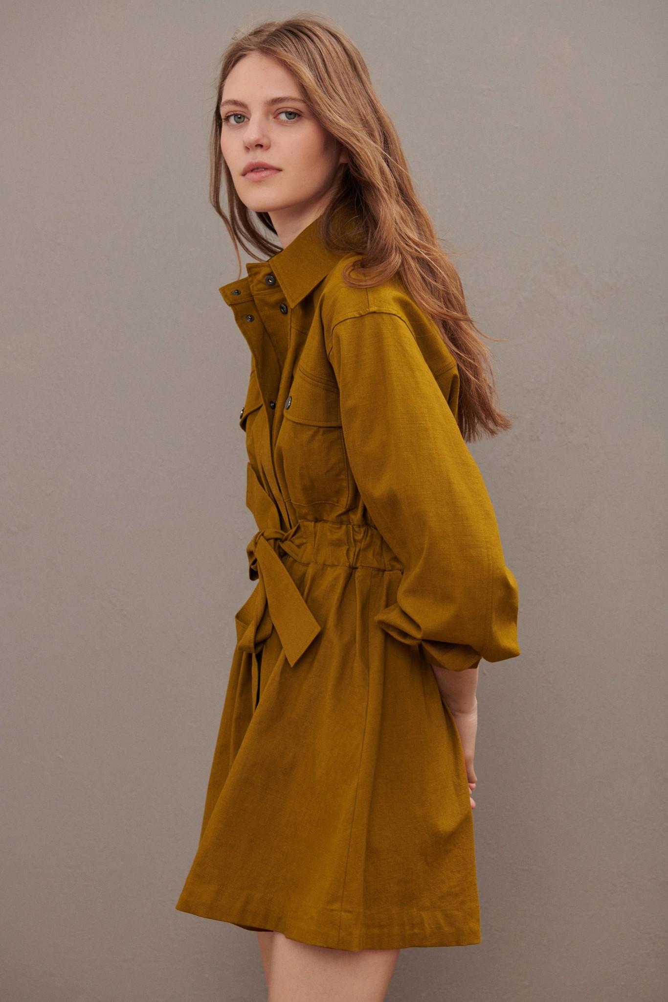 Oden Dress - Olive-4
