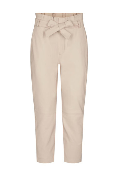 Phoebe Leather Pant - Marzipan