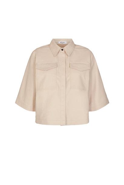 Phoebe Crop Shirt - Marzipan