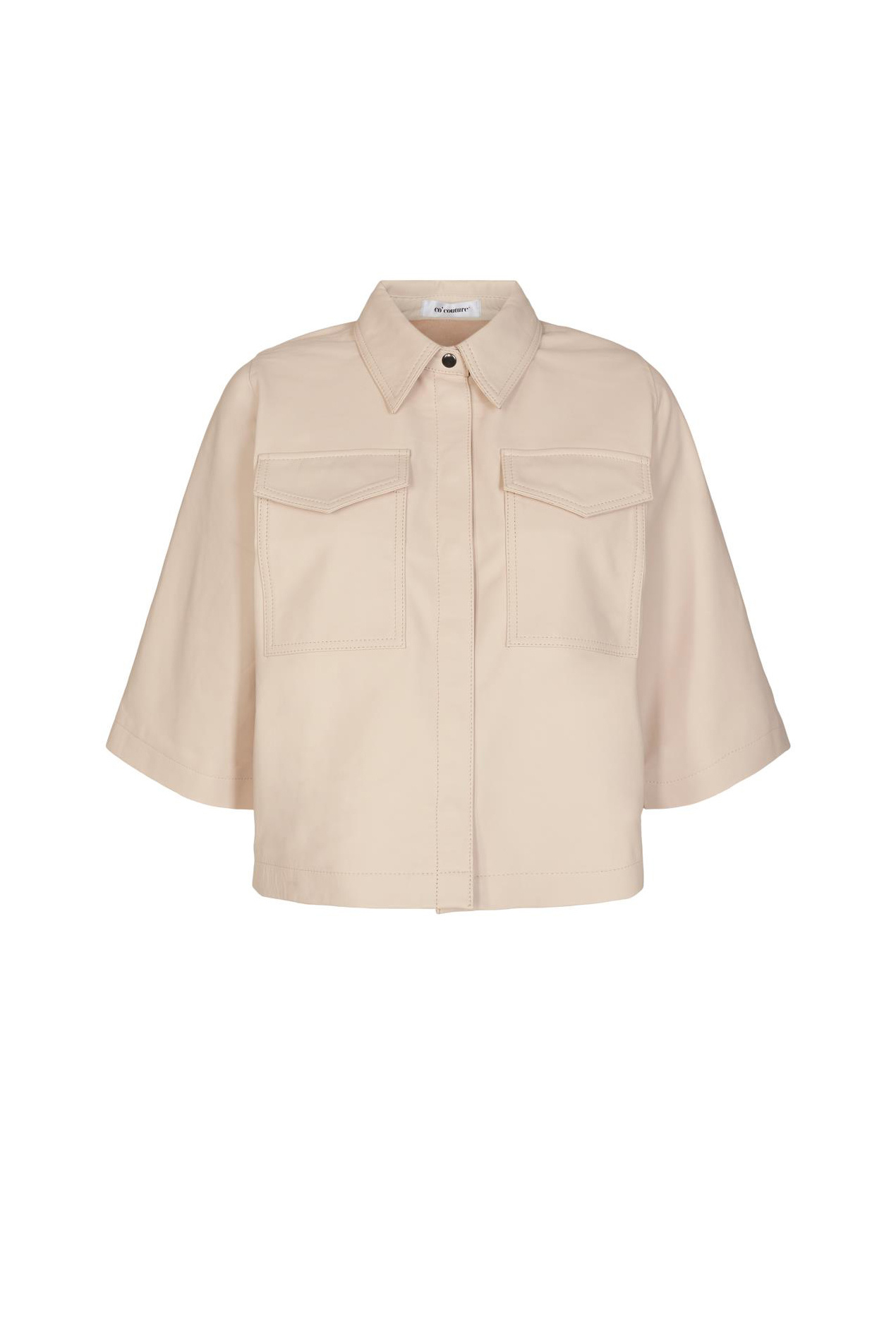 Phoebe Crop Shirt - Marzipan-1