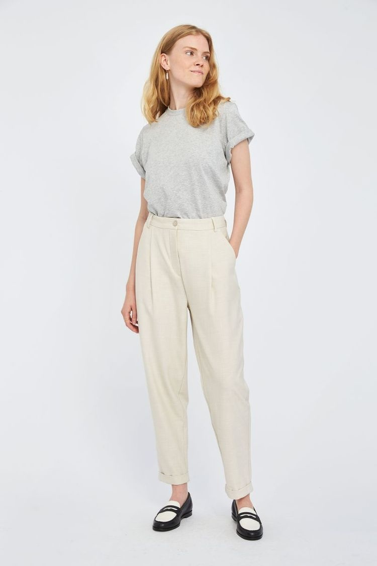Malou Slash 396 Trouser - Moonbeam Melange-2