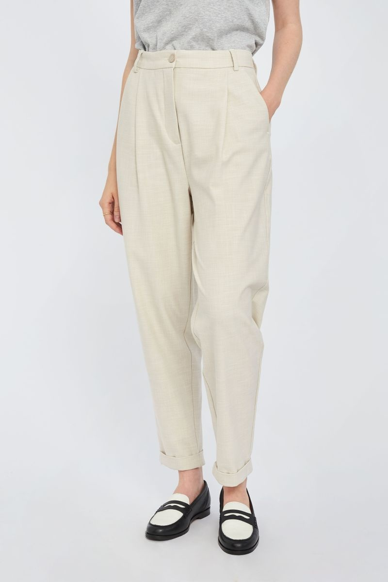 Malou Slash 396 Trouser - Moonbeam Melange-3