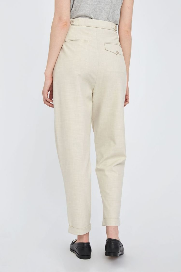 Malou Slash 396 Trouser - Moonbeam Melange-5