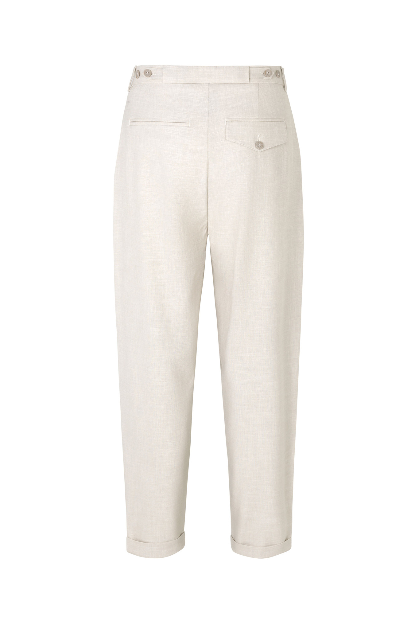 Malou Slash 396 Trouser - Moonbeam Melange-6