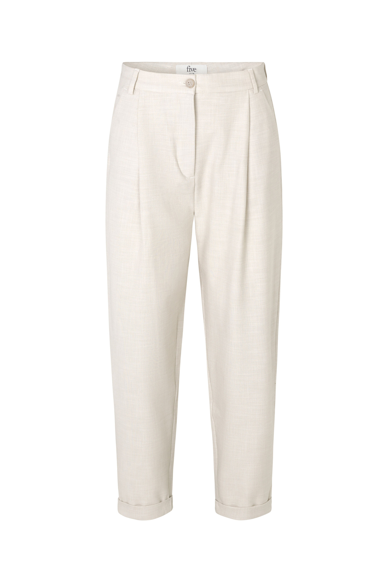Malou Slash 396 Trouser - Moonbeam Melange-1