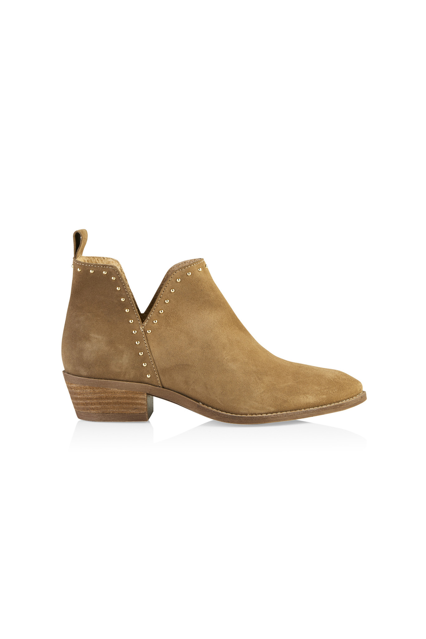 Gianna Boot - Taupe/Gold-1