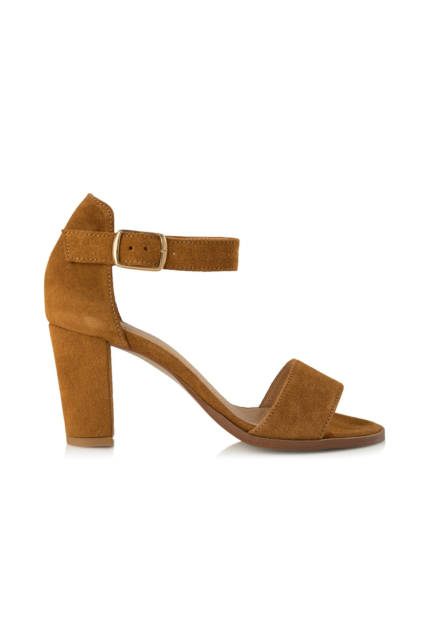 Silke Sandal - Tan Suede-1