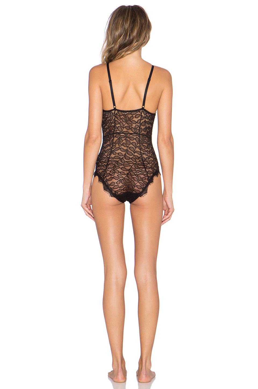 Lace Bodysuit - Black-3