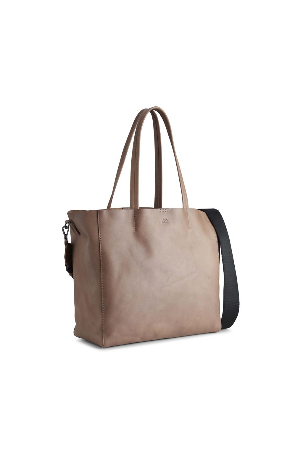 Reese Shopper Bag - Antique Caramel w/ Black-2