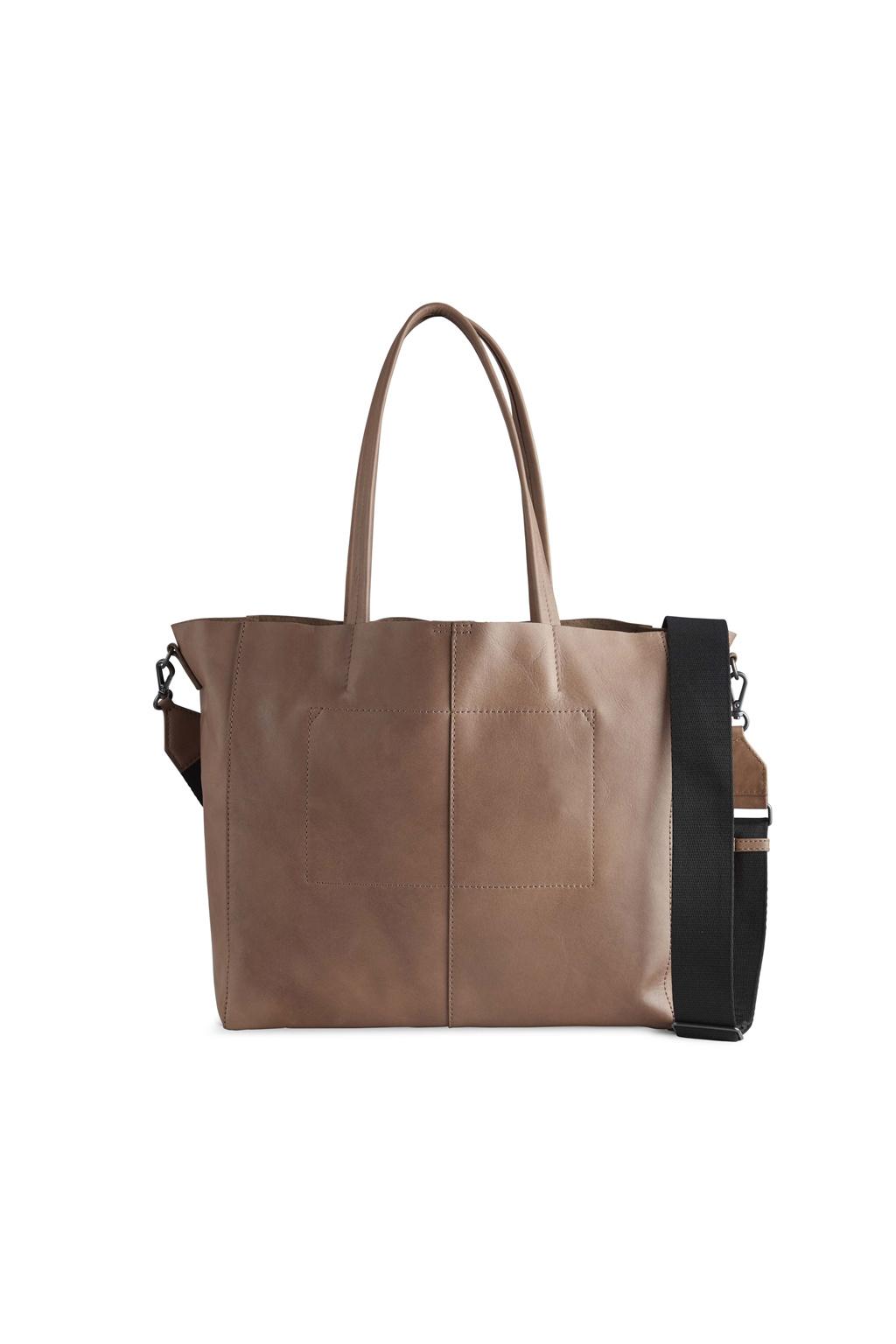 Reese Shopper Bag - Antique Caramel w/ Black-5
