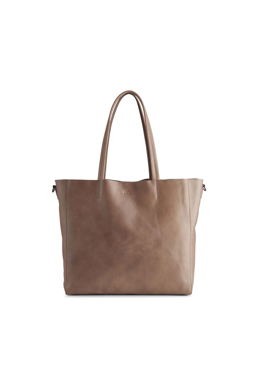 Reese Shopper Bag - Antique Caramel w/ Black-3