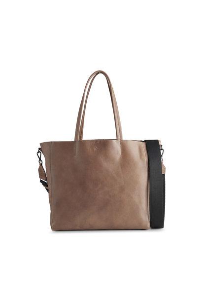 Reese Shopper Bag - Antique Caramel w/ Black
