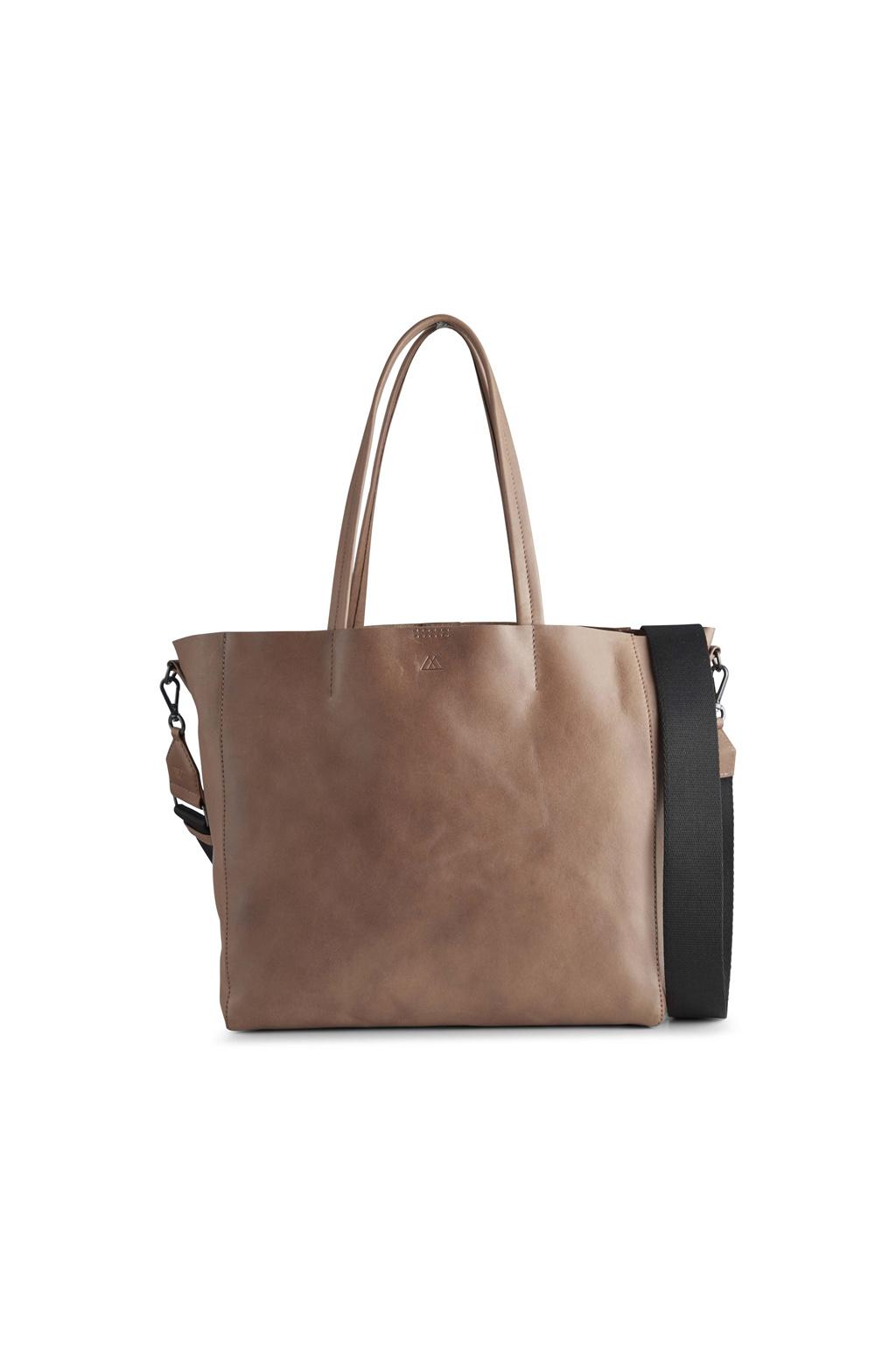 Reese Shopper Bag - Antique Caramel w/ Black-1