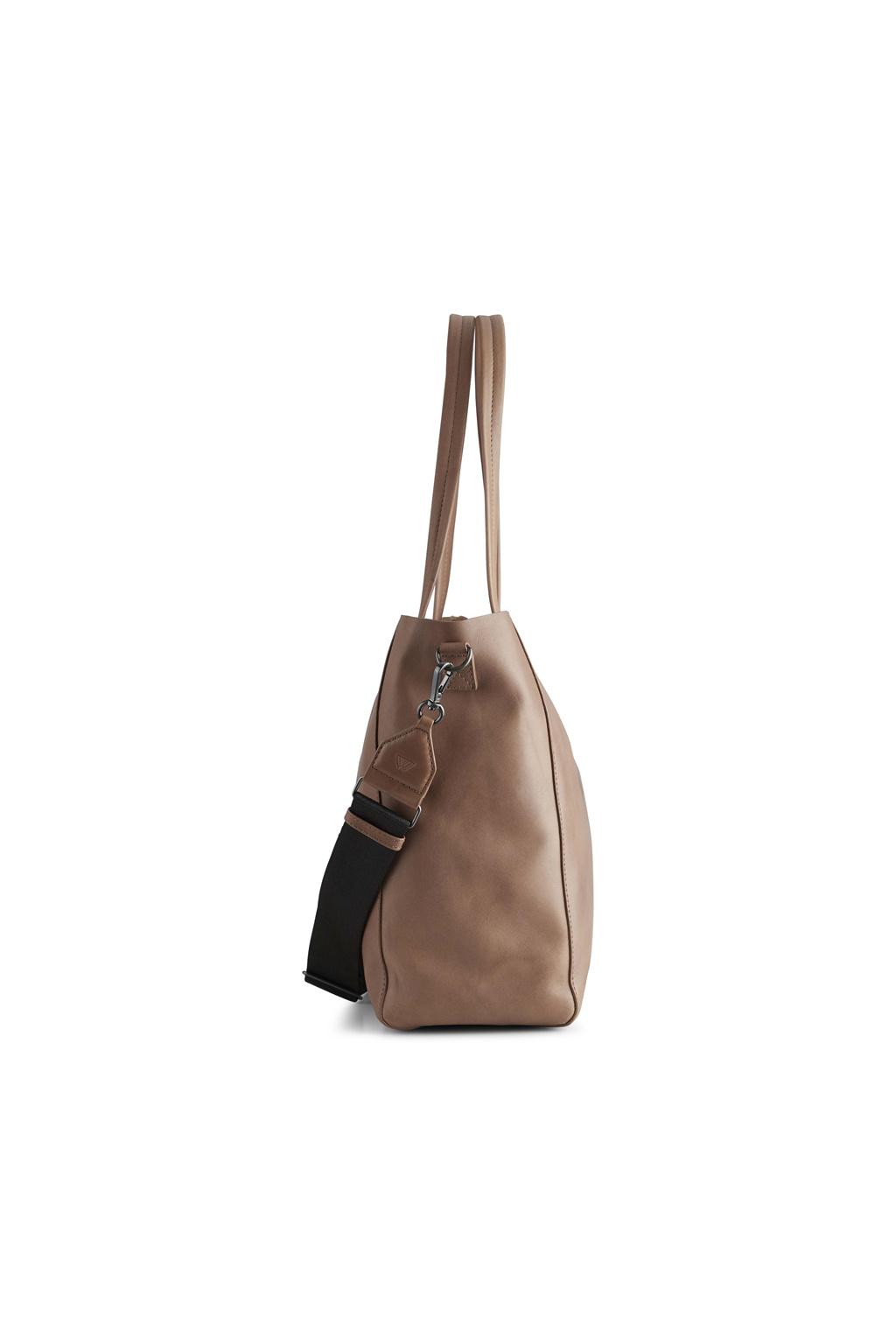 Reese Shopper Bag - Antique Caramel w/ Black-4