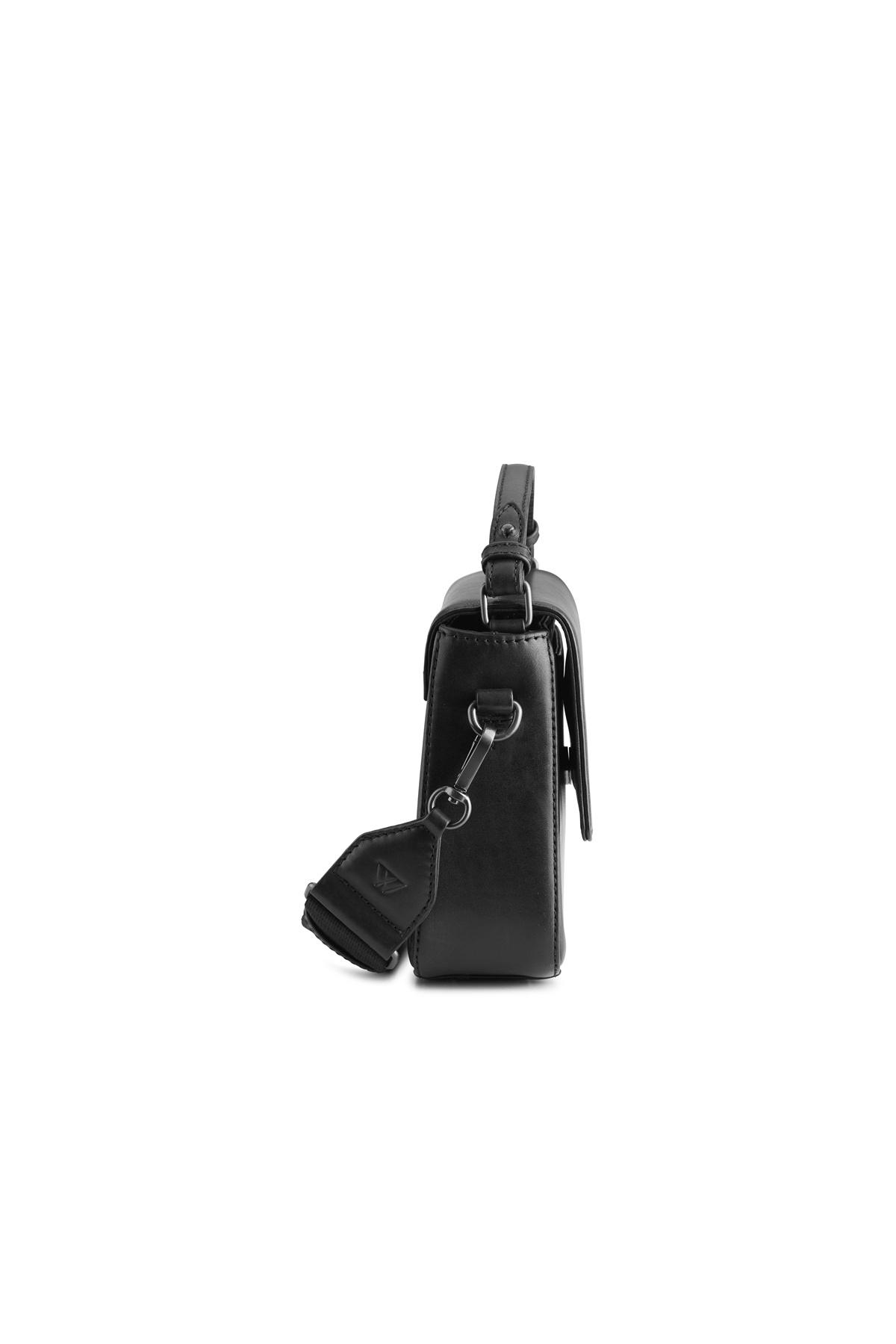 Adora Large Crossbody Bag - Antique Black w/ Black-8