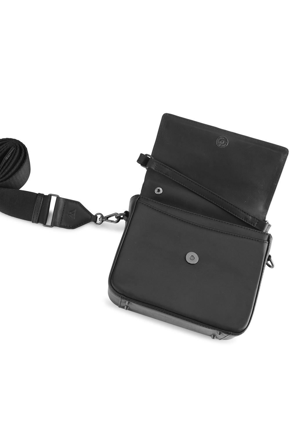 Adora Large Crossbody Bag - Antique Black w/ Black-4