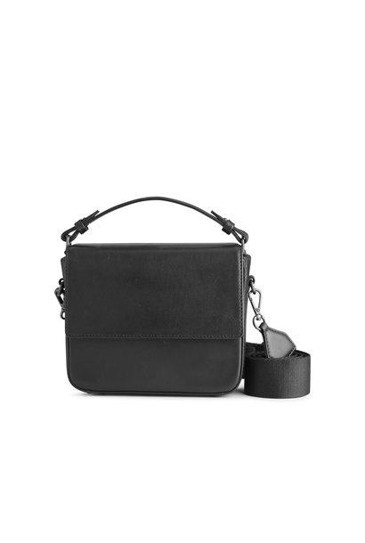 Adora Large Crossbody Bag - Antique Black w/ Black