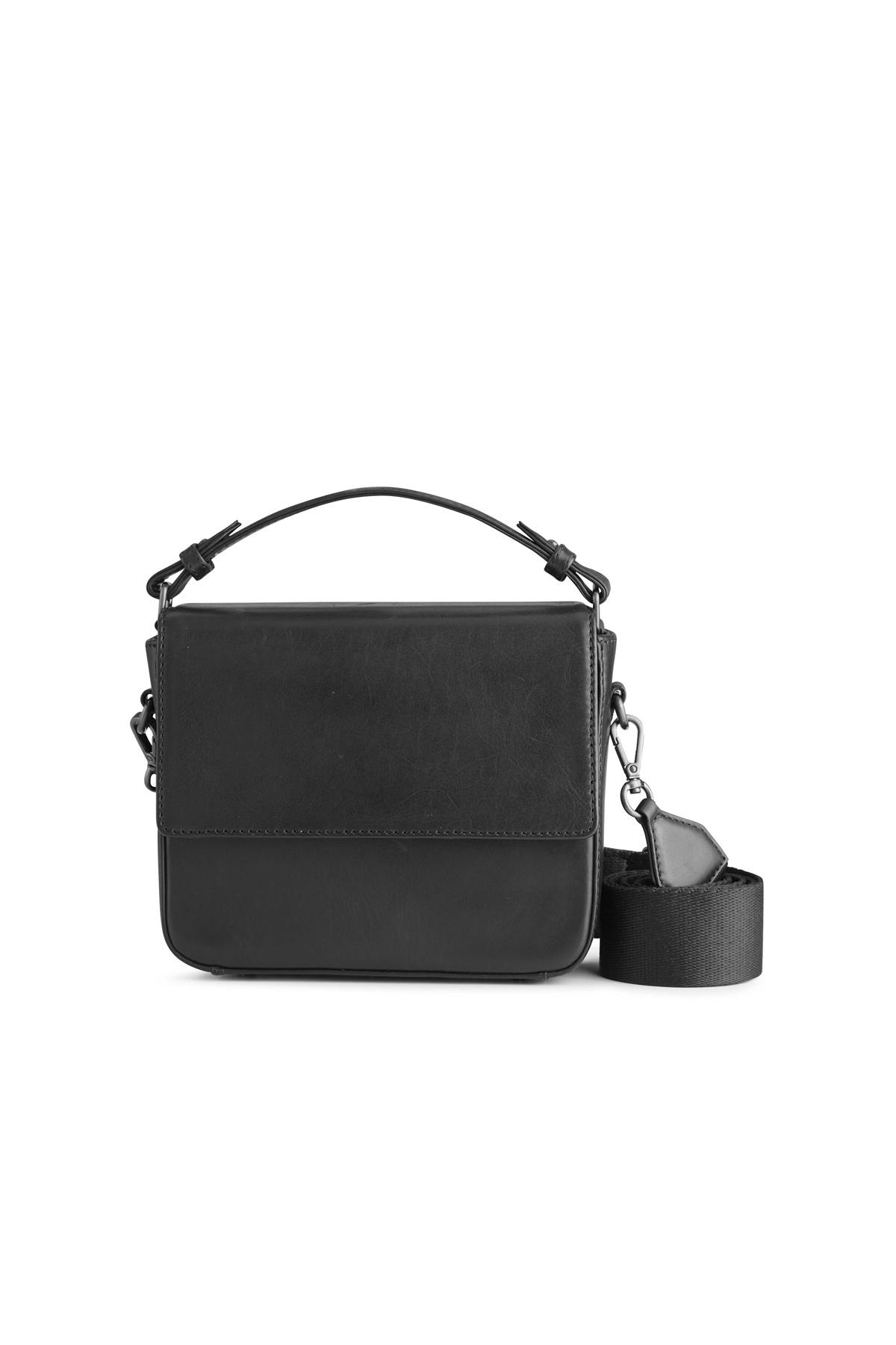 Adora Large Crossbody Bag - Antique Black w/ Black-1