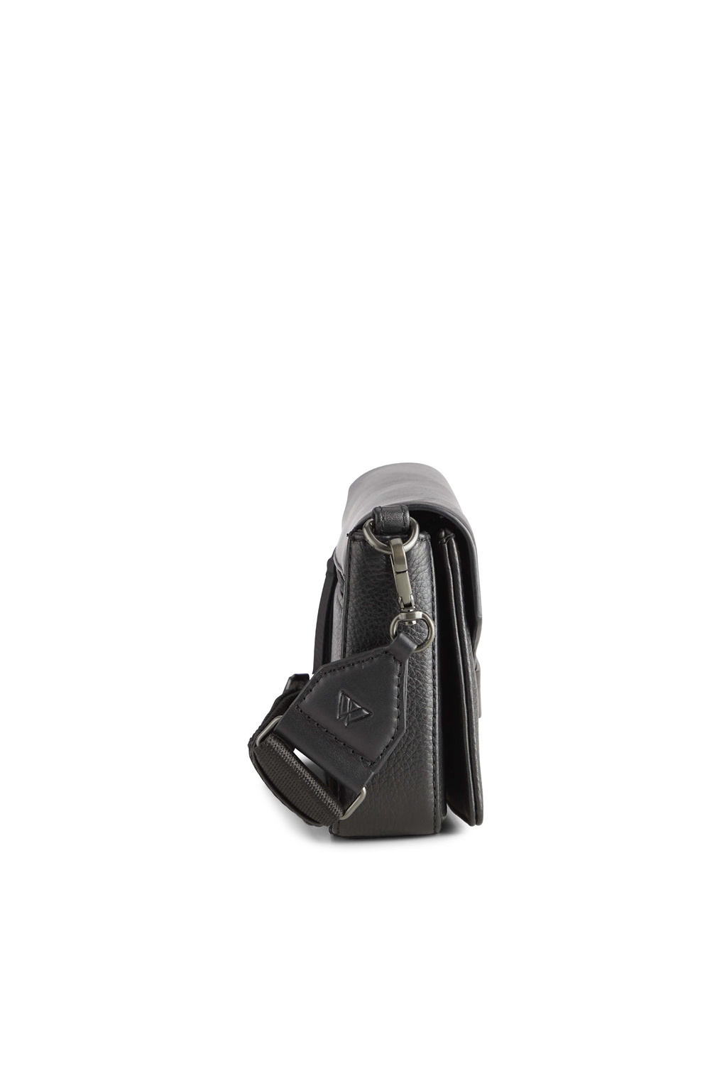 Vanya Guitar Crossbody Bag - Grain Black w/Black-3