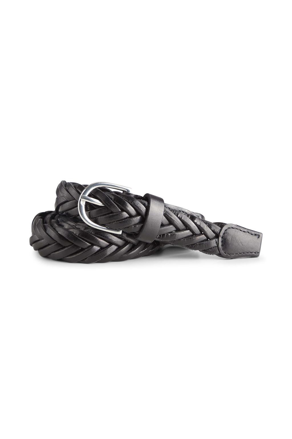 Nerea Leather Belt - Black-1
