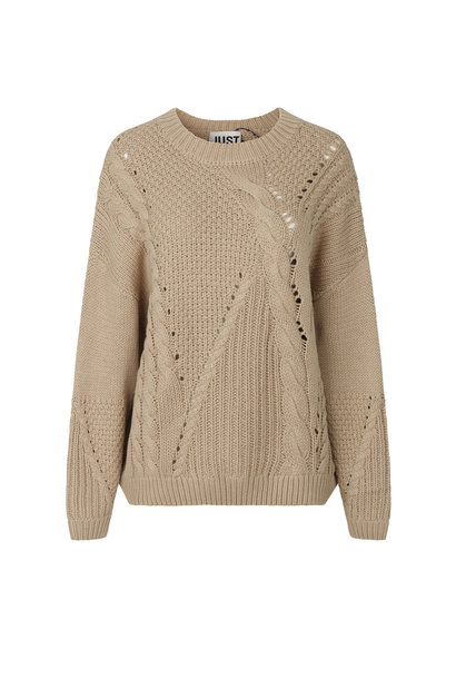 Via Knit Jumper - Cobblestone