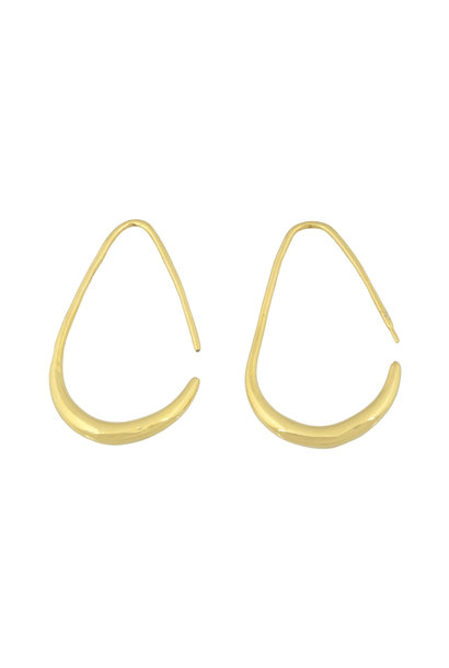 Teardrop Earrings - Gold