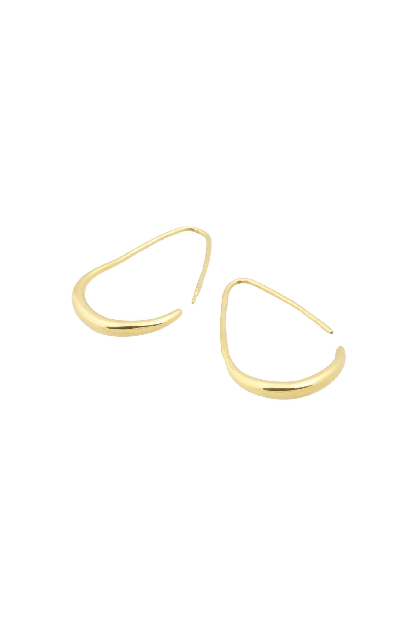 Teardrop Earrings - Gold-4