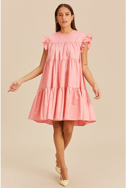 Short Dress with Ruffles - Pink