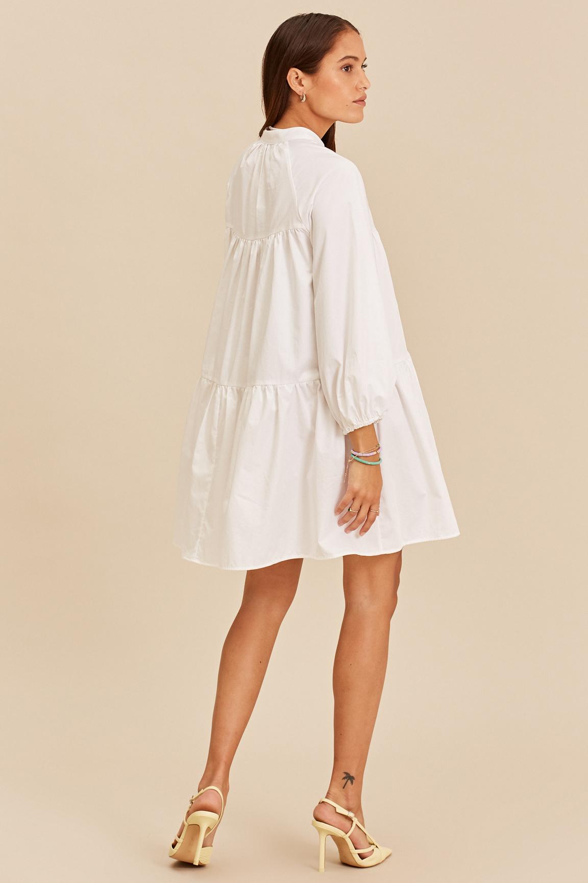 Short Dress - White-4