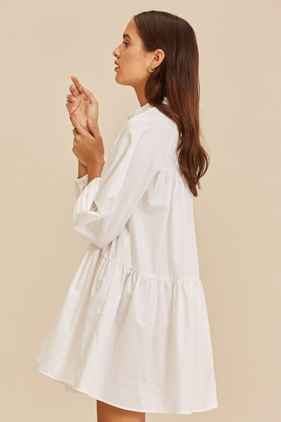 Short Dress - White-2
