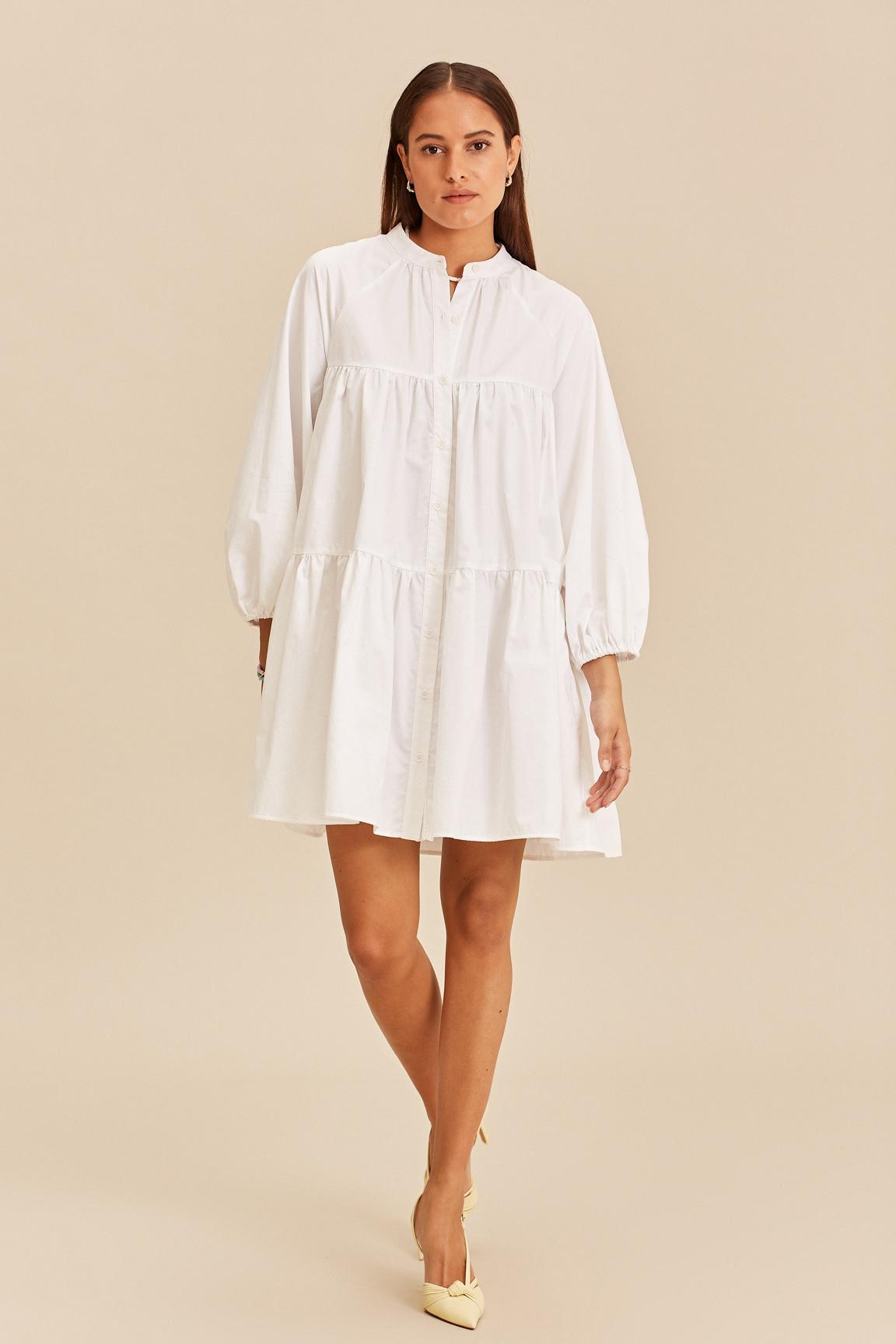 Short Dress - White-1