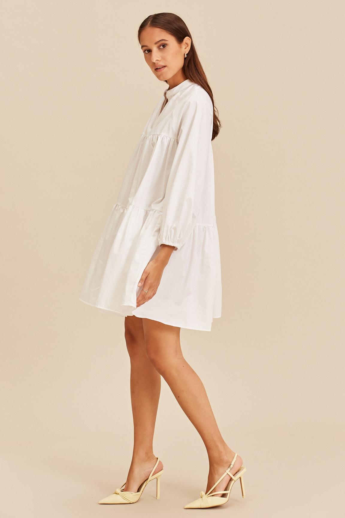 Short Dress - White-3