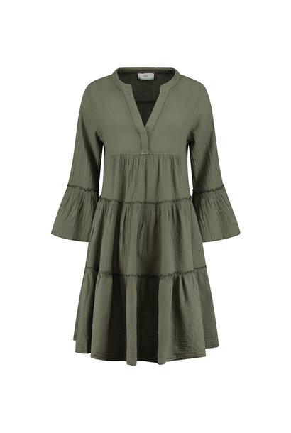 Dress Midi - Khaki