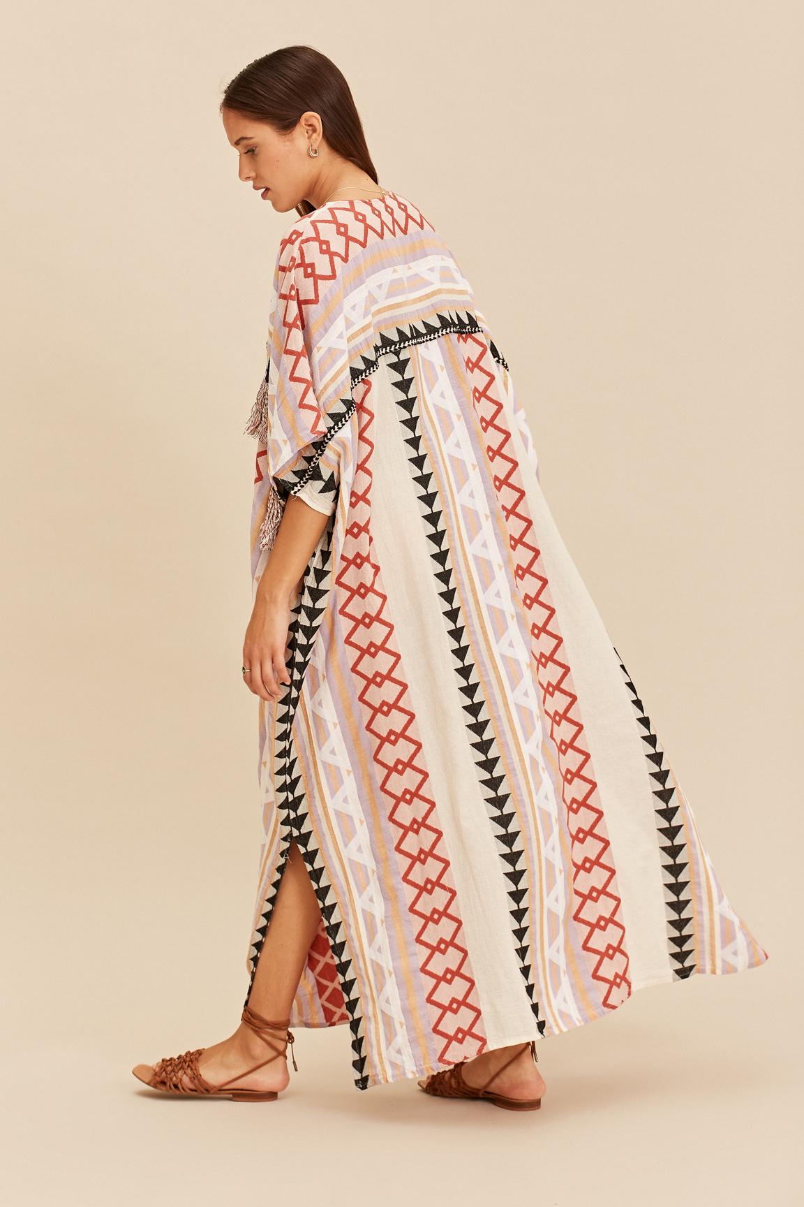 Long Kimono Zakar New York - Lila-4